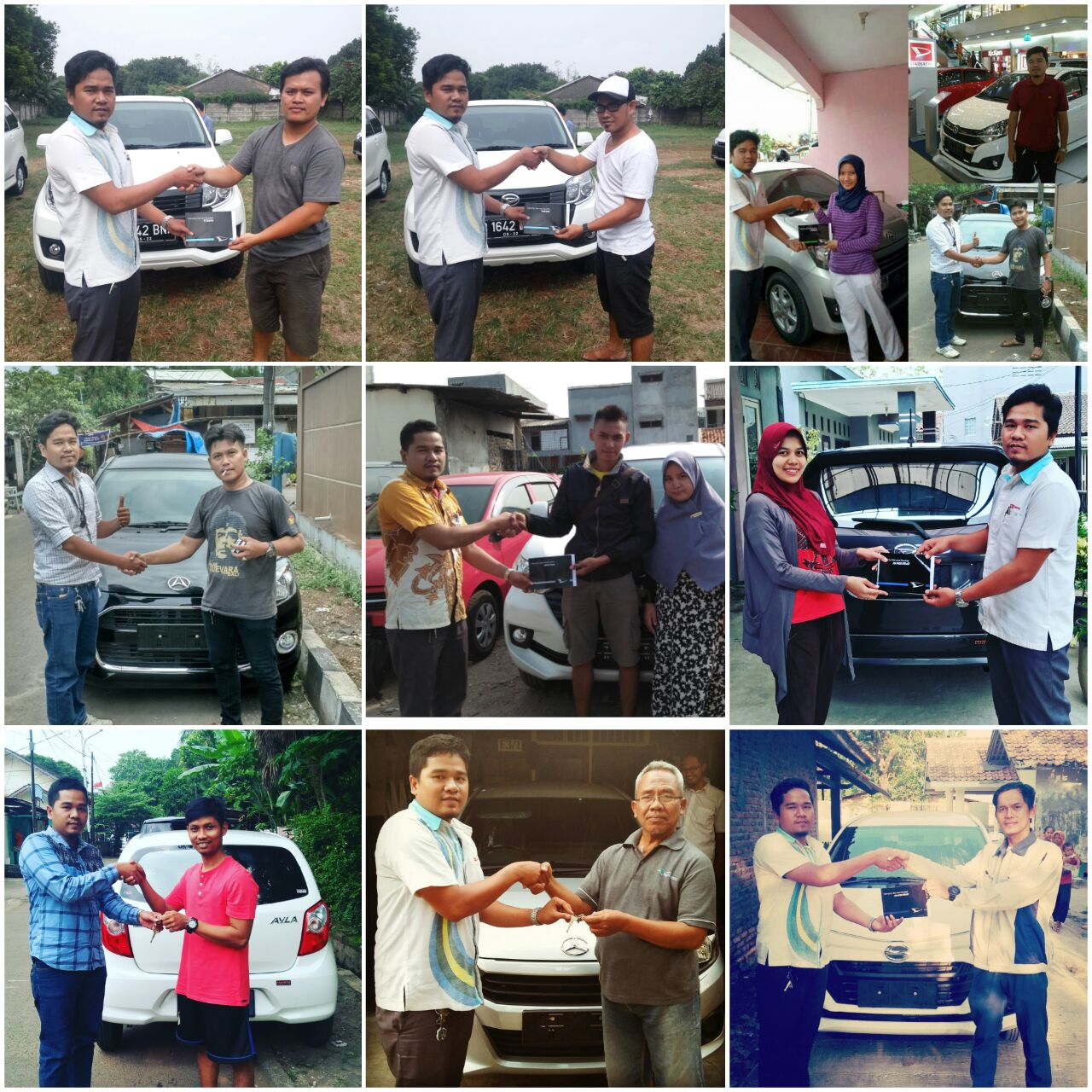 Foto Penyerahan Unit Gabungan Sales Marketing Mobil Dealer Daihatsu Aris