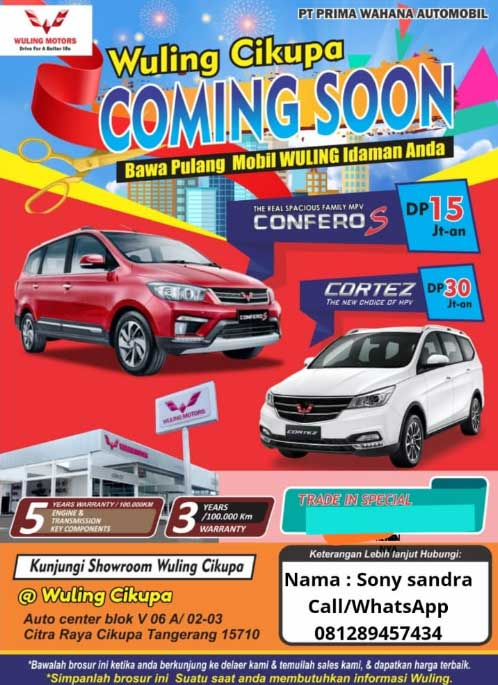 Promo Wuling By Sony