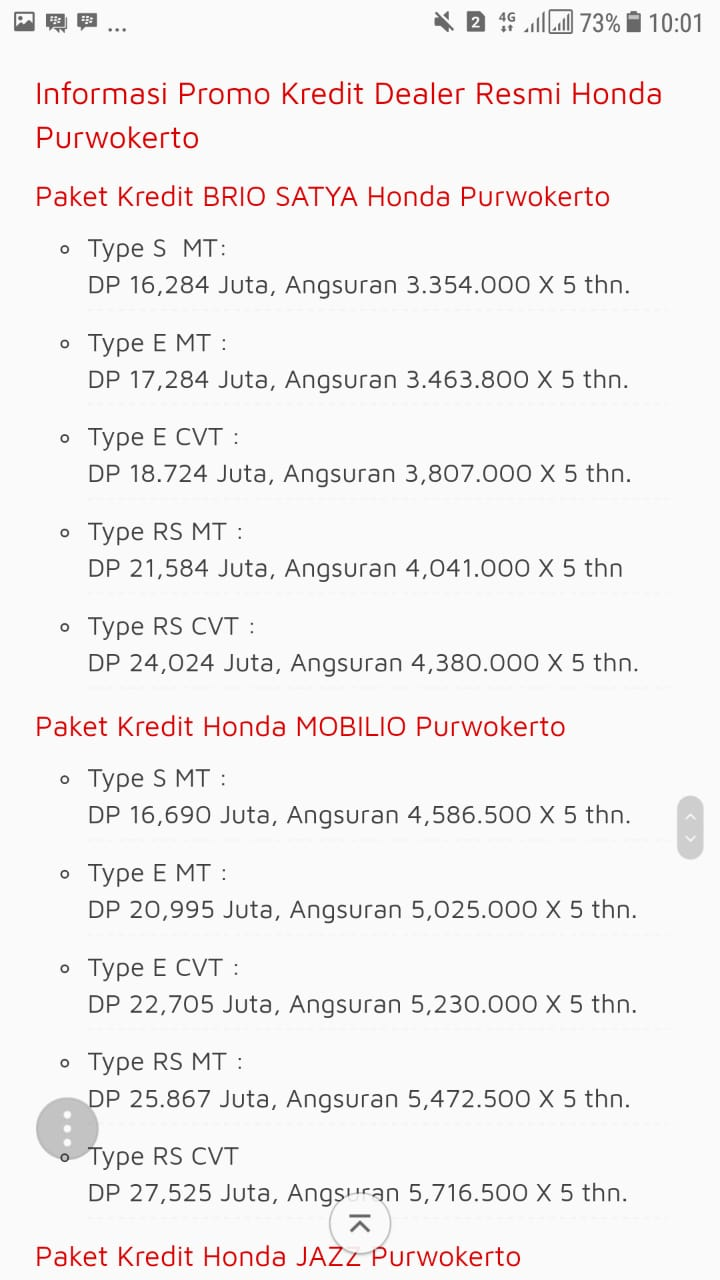 Promo 1 Honda By Putry