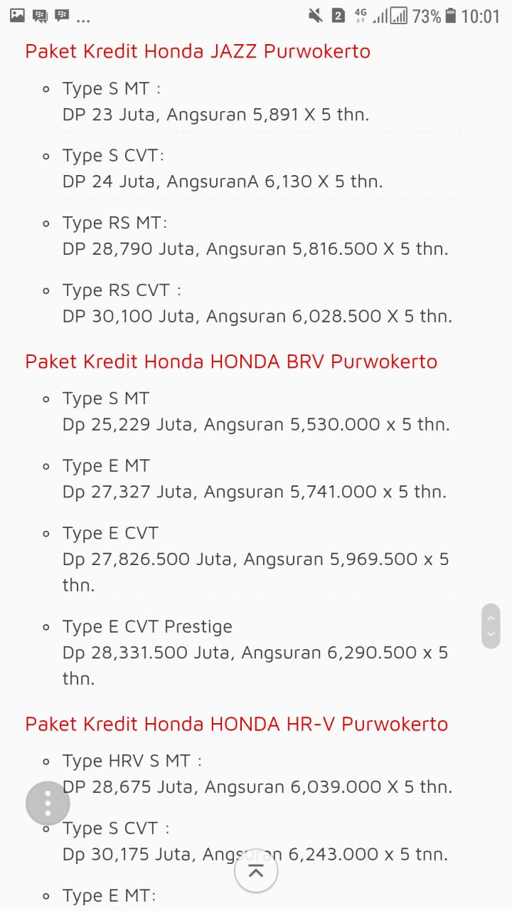 Promo 2 Honda By Putry
