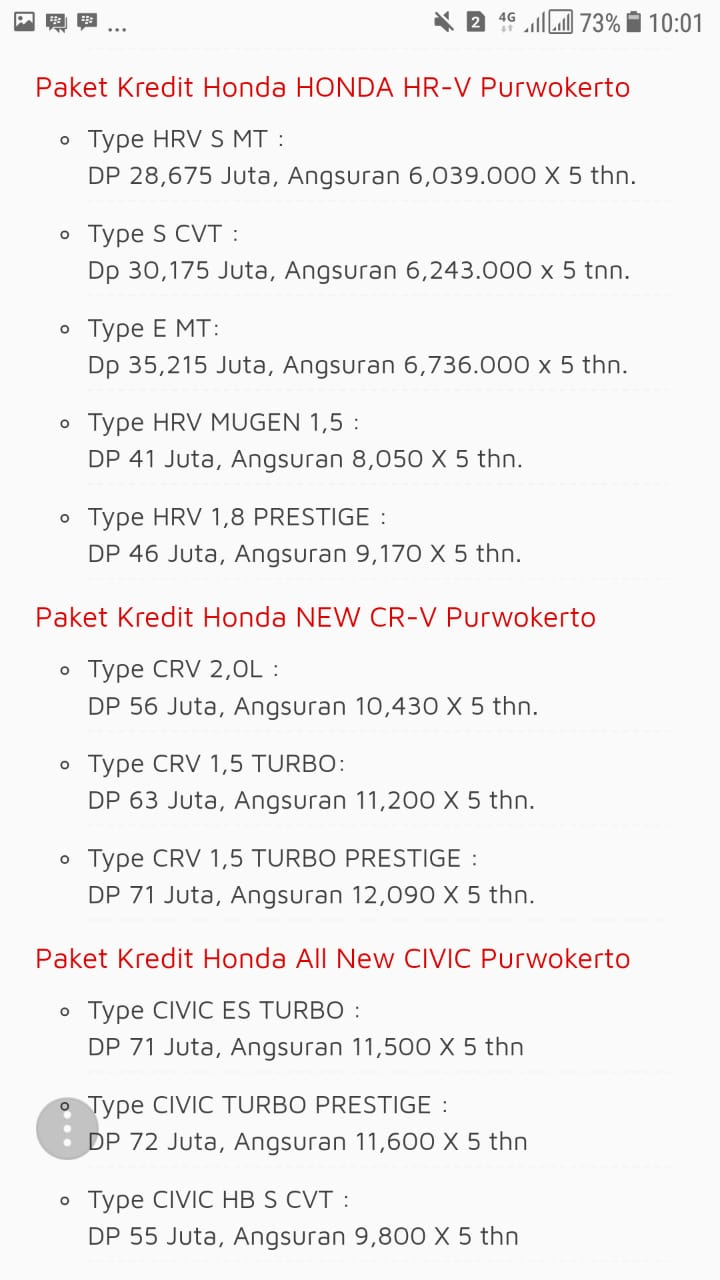 Promo 3 Honda By Putry