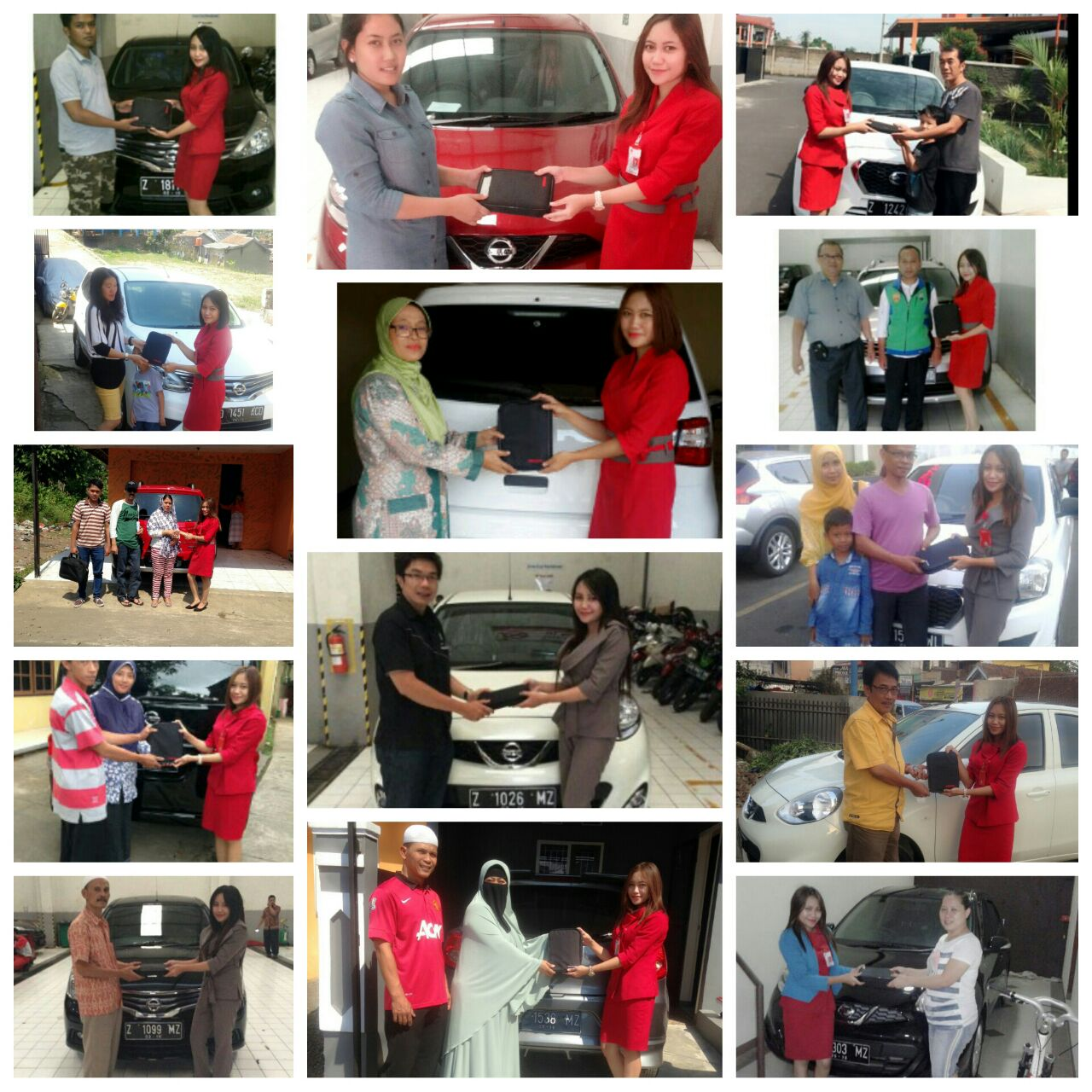 Foto Penyerahan Unit Gabungan Sales Marketing Mobil Dealer Nissan Tasikmalaya Devi