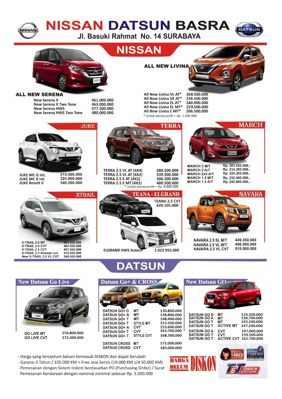 Harga Mobil Nissan By Olin